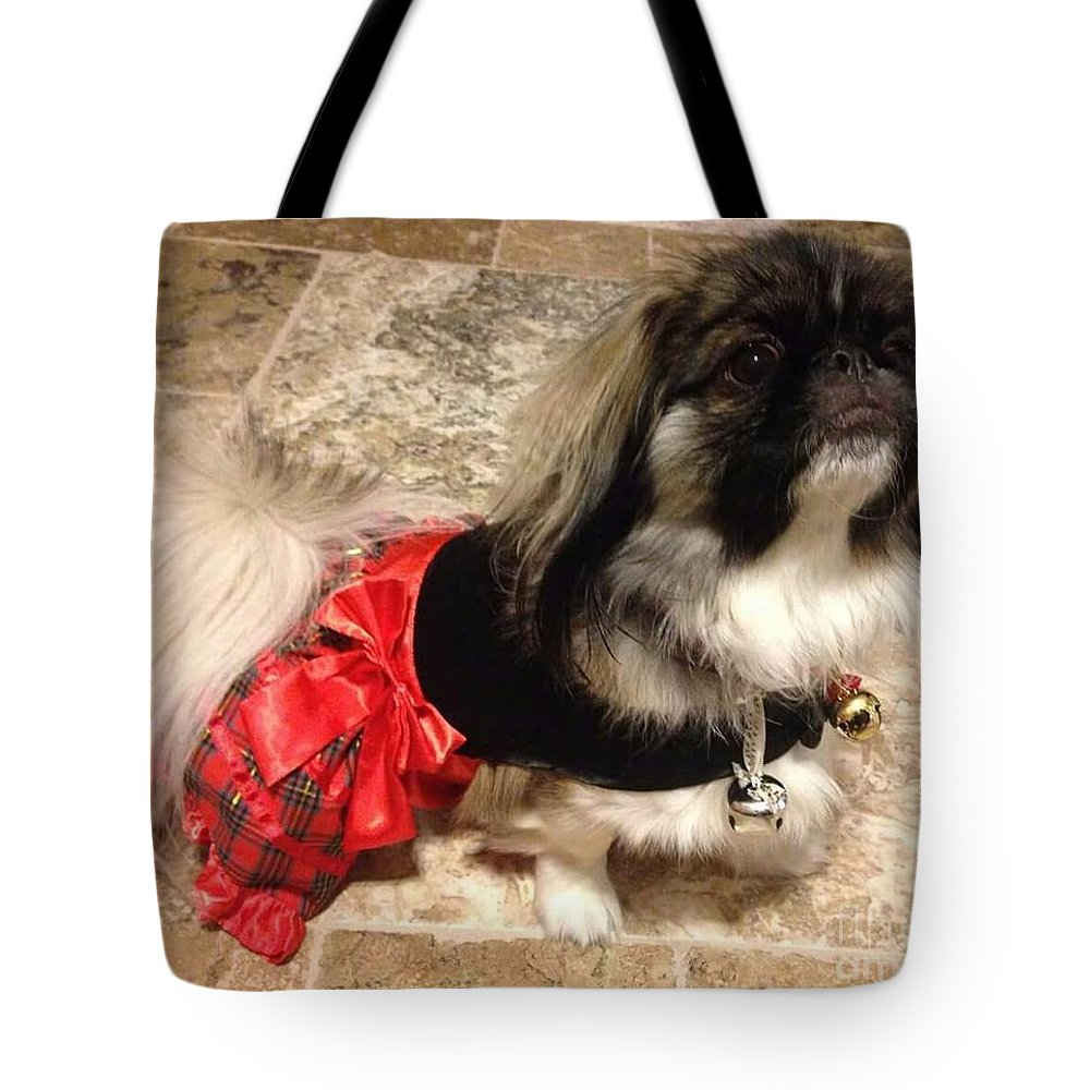 Moo Moo Tote Bag featuring the photograph All Dressed Up by Cindy Riley
