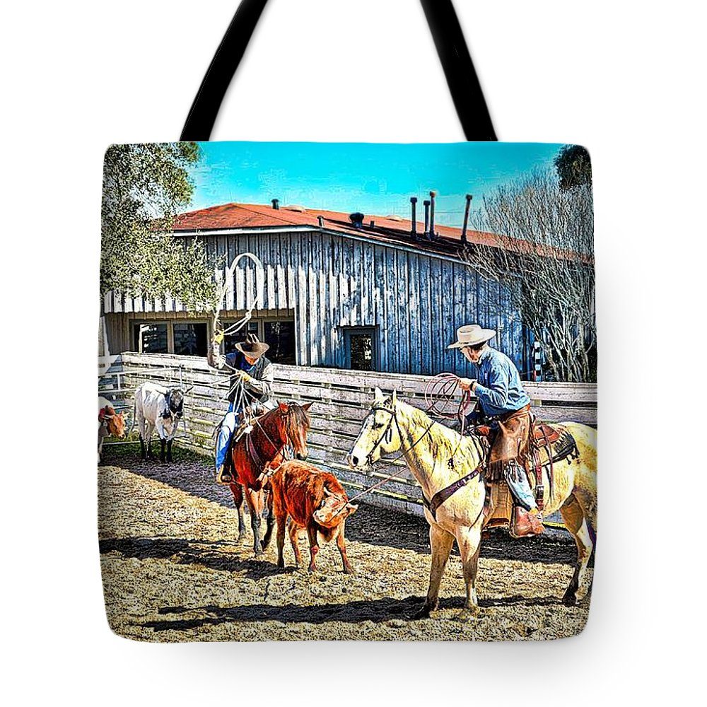 Horse Tote Bag featuring the photograph All In A Days Work by Nikki W Photography