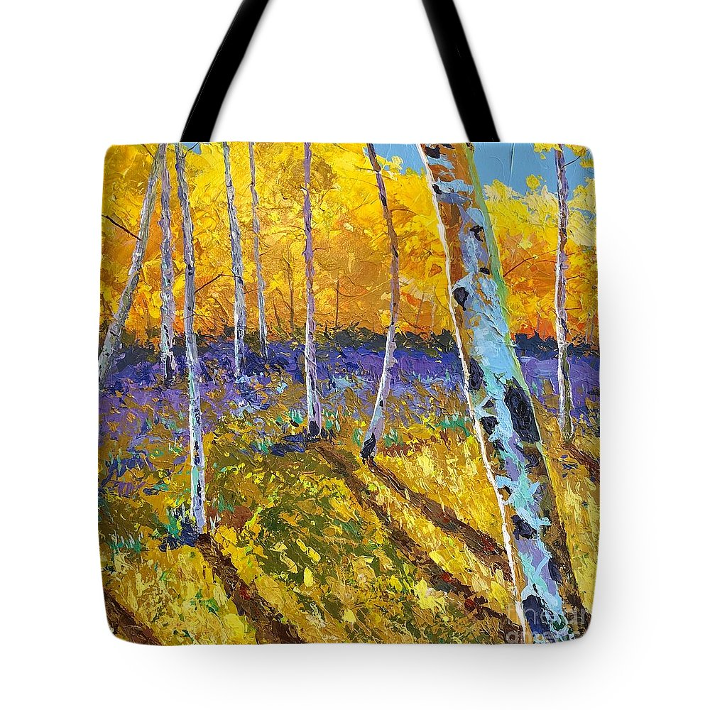 Aspen Tote Bag featuring the painting All In The Golden Afternoon by Hunter Jay