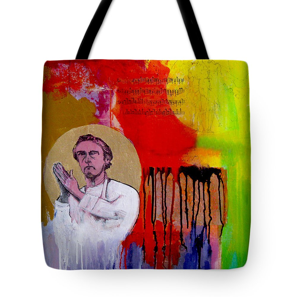 Acrylic Tote Bag featuring the painting All Real Is Possible by James Gallagher