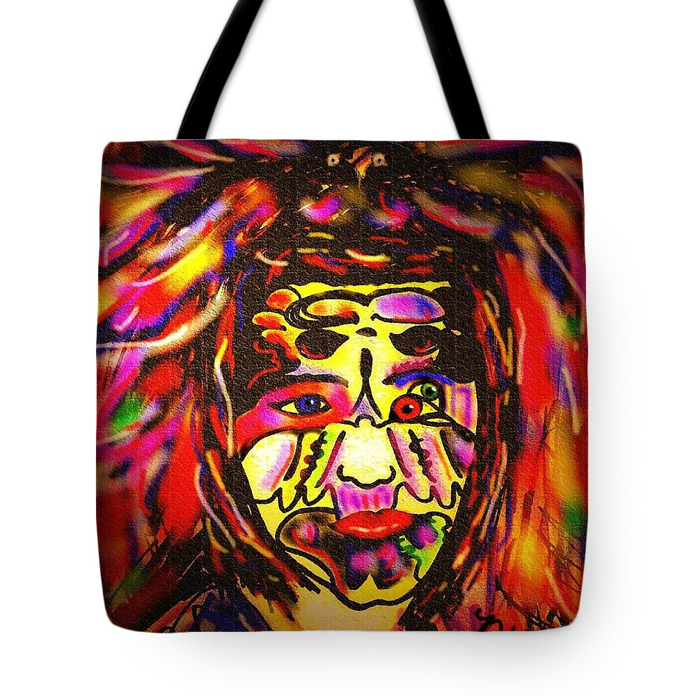 Man Tote Bag featuring the painting All Seeing Eye by Natalie Holland