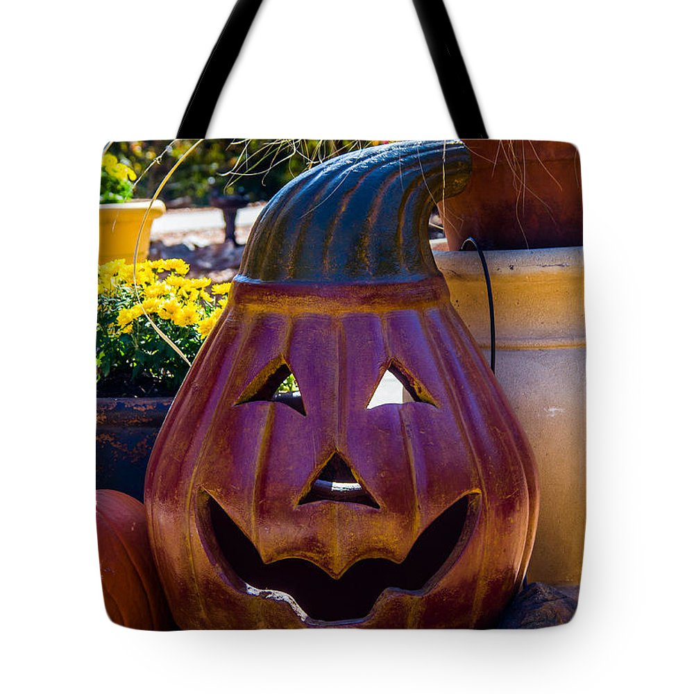 Autumn Tote Bag featuring the photograph All Smiles For Halloween by Robert Kinser