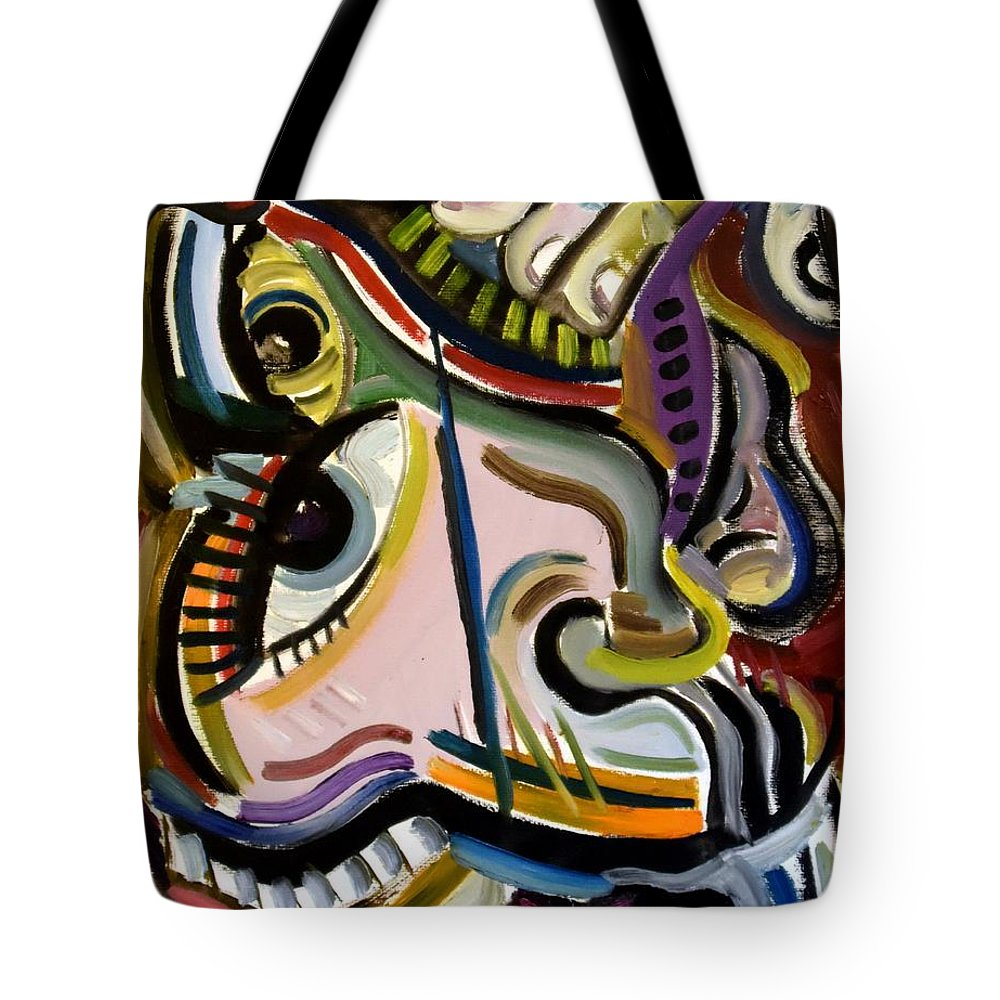 Lord Toph Tote Bag featuring the painting All Smiles by Lord Toph