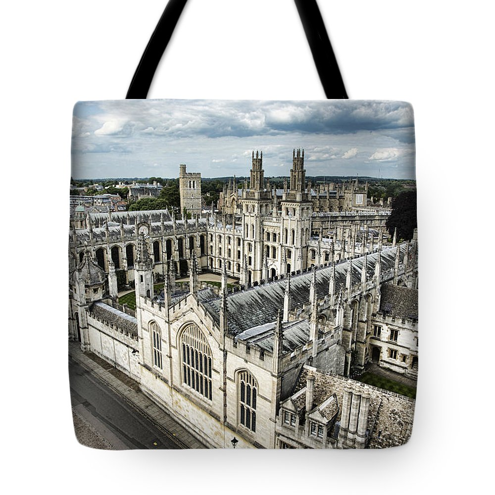 All Souls College Tote Bag featuring the photograph All Souls College - Oxford University by Stephen Stookey