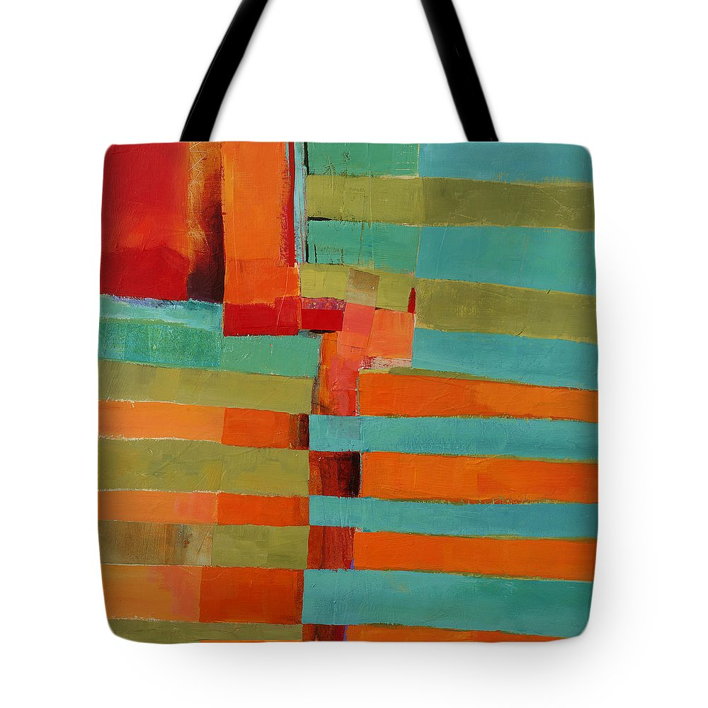 Abstract Art Tote Bag featuring the painting All Stripes 2 by Jane Davies
