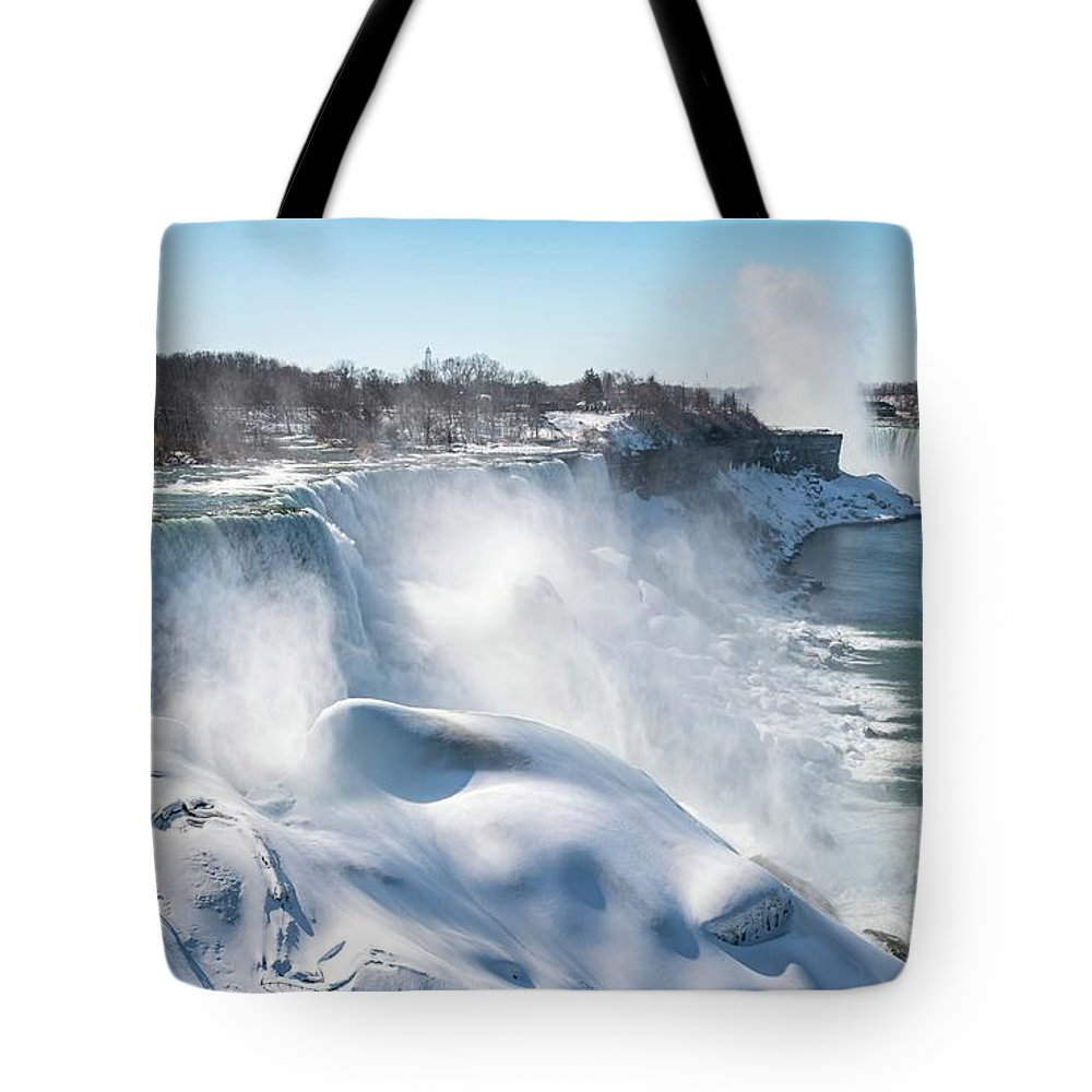 Usa Tote Bag featuring the photograph All The Falls by Framing Places