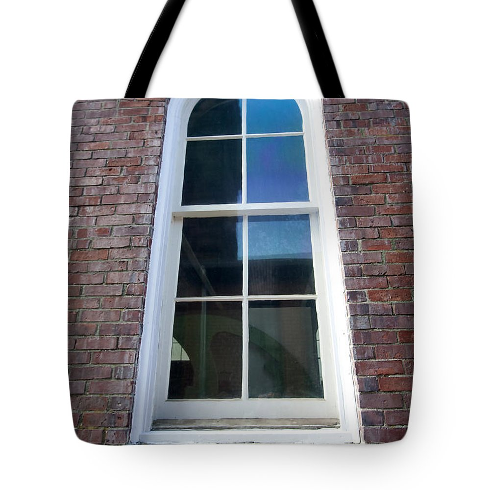 Window Tote Bag featuring the photograph All The Windows by Mary Haber