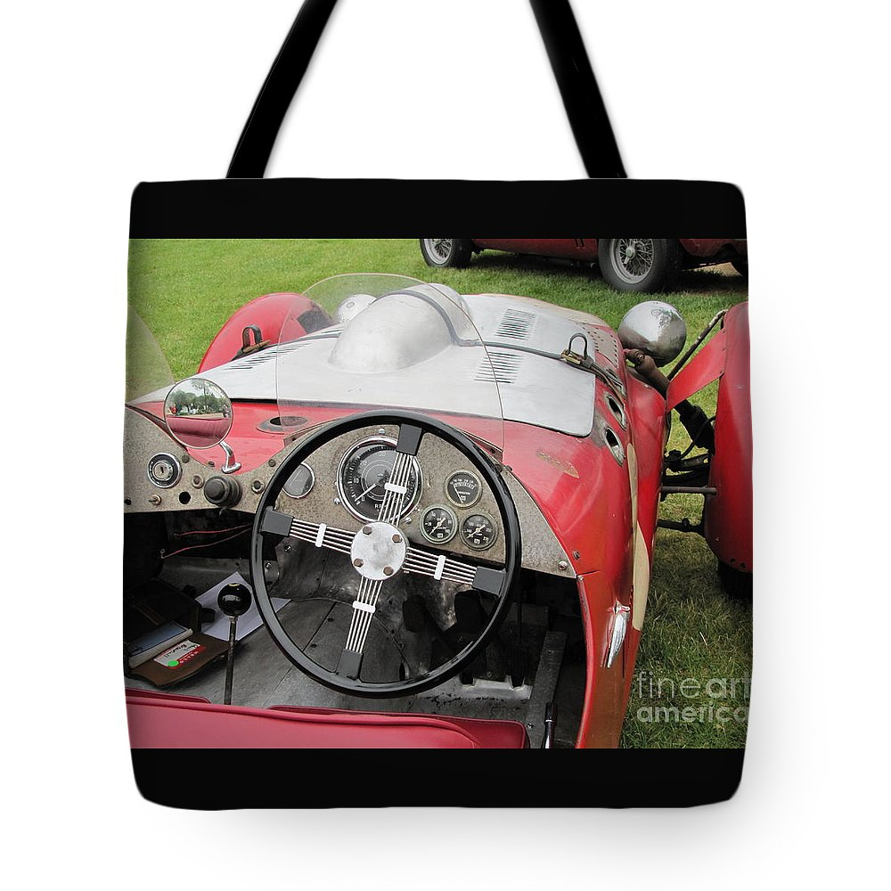 Allard Tote Bag featuring the photograph Allard J2 Racer. by Neil Zimmerman