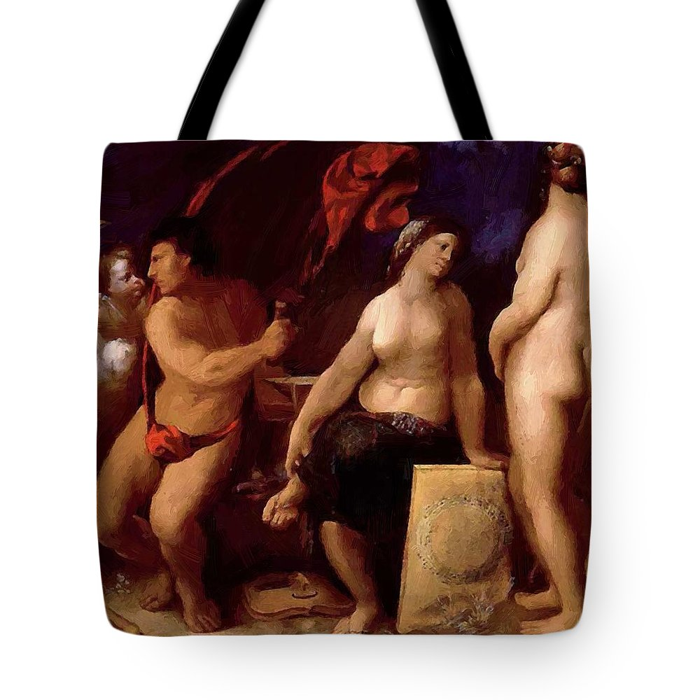 Allegory Tote Bag featuring the painting Allegory Of Music 1522 by Dossi Dosso