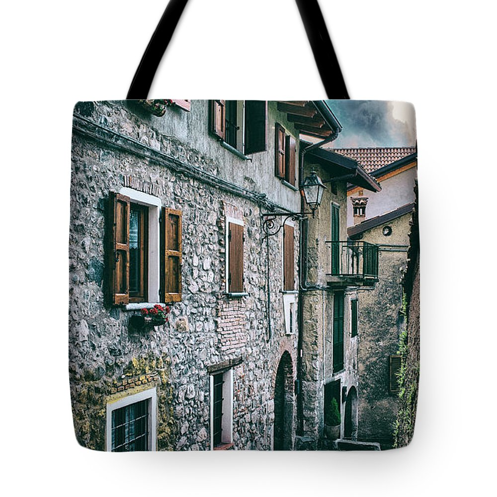 Alley Tote Bag featuring the photograph Alley In An Alpine Village #1 by Claudio Lepri
