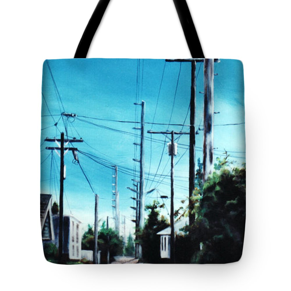 Cityscapes Tote Bag featuring the painting Alley No. 1 by Duke Windsor