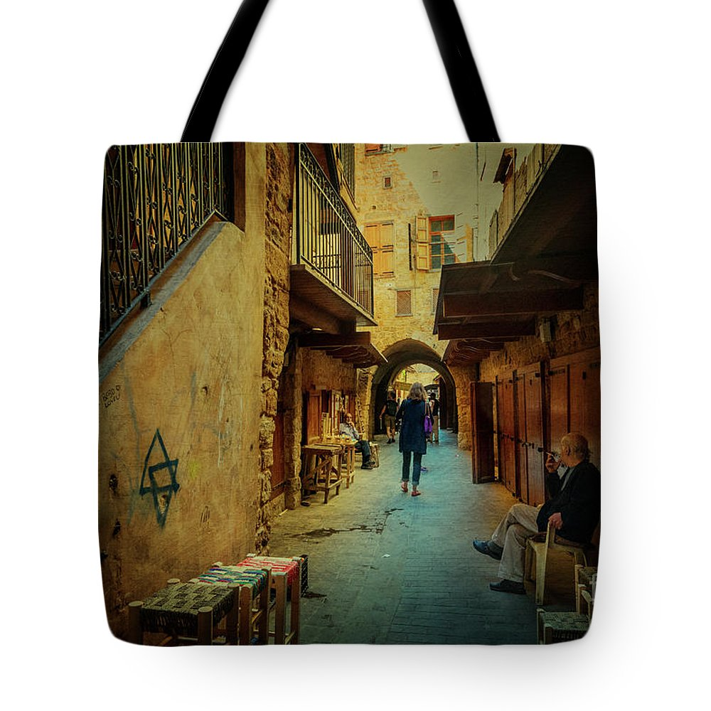Sidon Tote Bag featuring the photograph Alley Of Old Sidon by Naoki Takyo