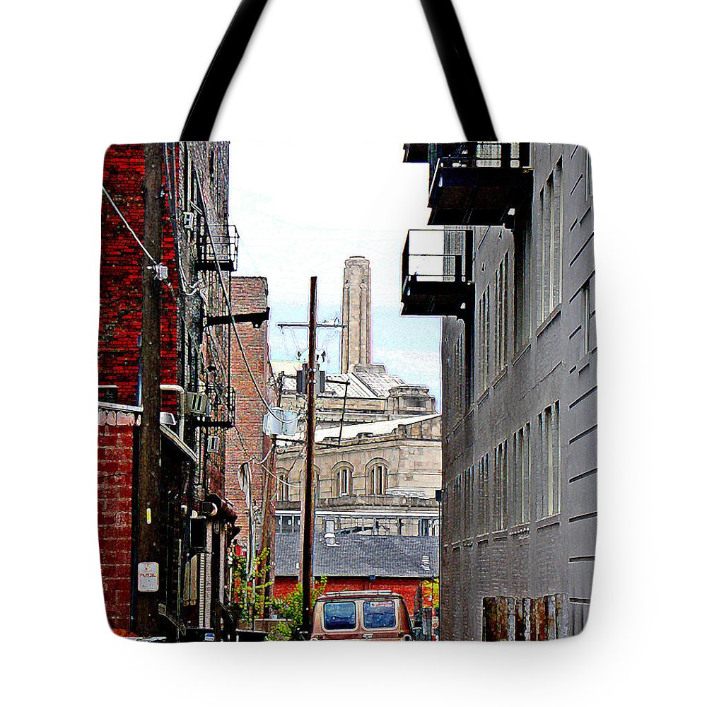 Cityscape Tote Bag featuring the photograph Alley by Steve Karol