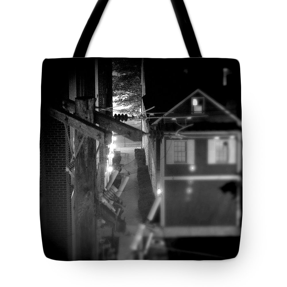 Alley Tote Bag featuring the photograph Alley to High by Jean Macaluso