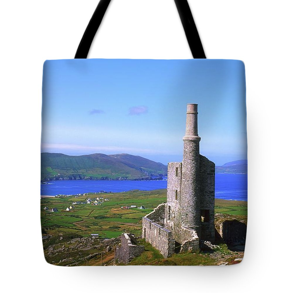 Agriculture Tote Bag featuring the photograph Allihies, Co Cork, Ireland Old Mine by The Irish Image Collection
