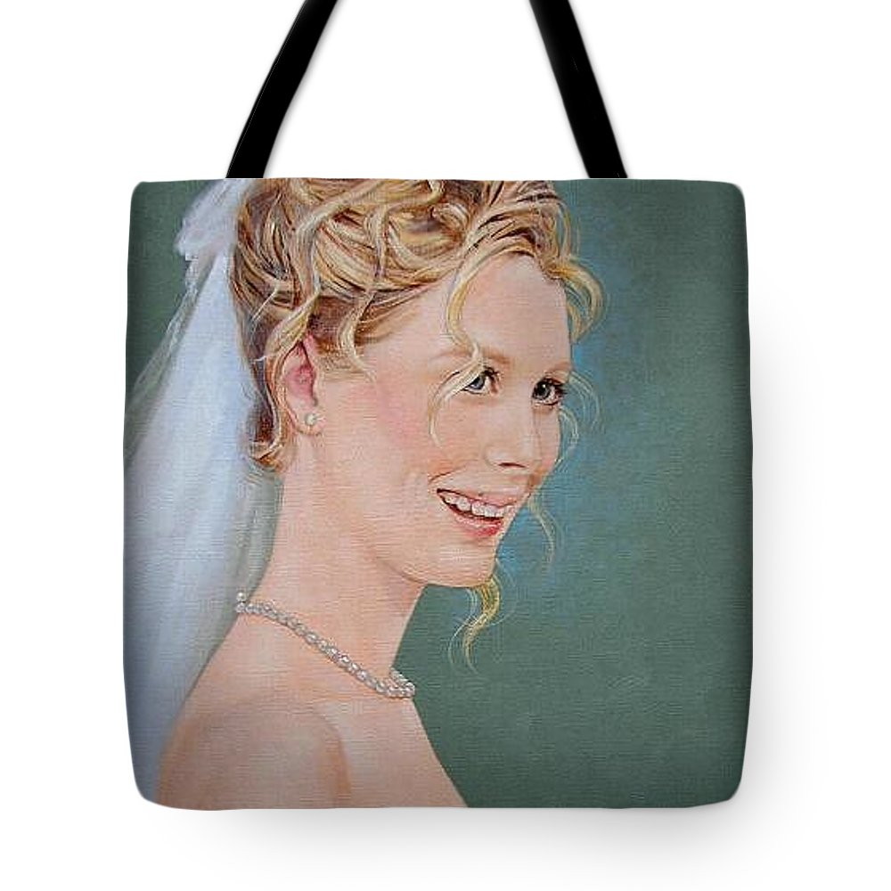 Wedding Tote Bag featuring the painting Allison by Jerrold Carton