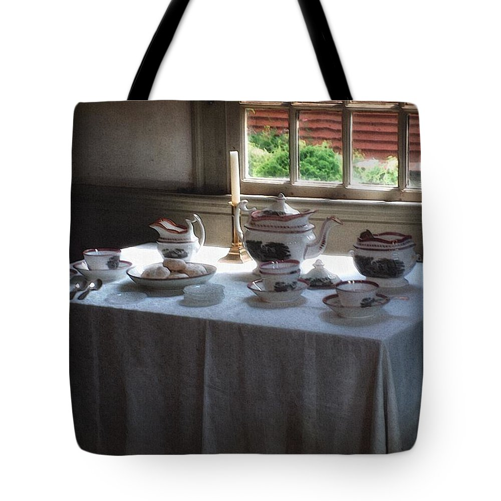 Americana Tote Bag featuring the painting Almost Tea Time by RC DeWinter