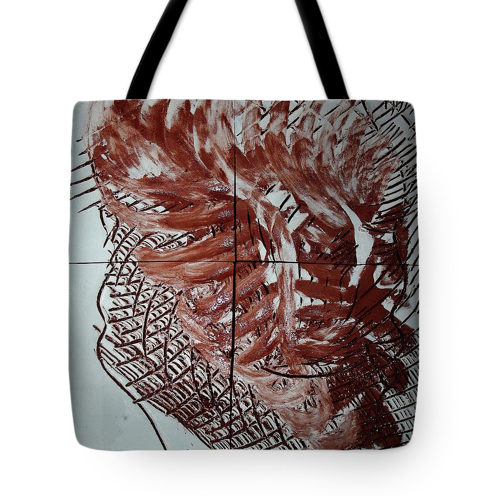 Jesus Tote Bag featuring the ceramic art Aloft - Plaque by Gloria Ssali
