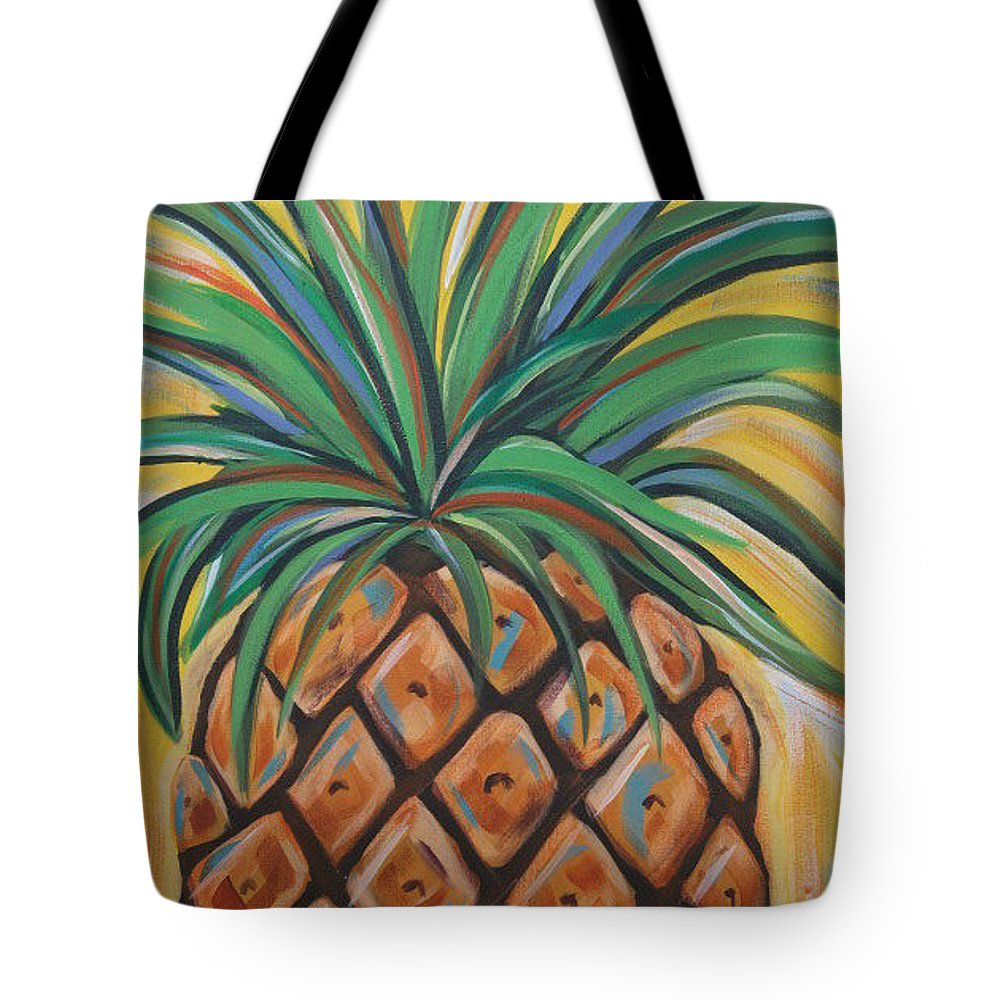 Aloha Tote Bag featuring the painting Aloha by Angela Miles Varnado
