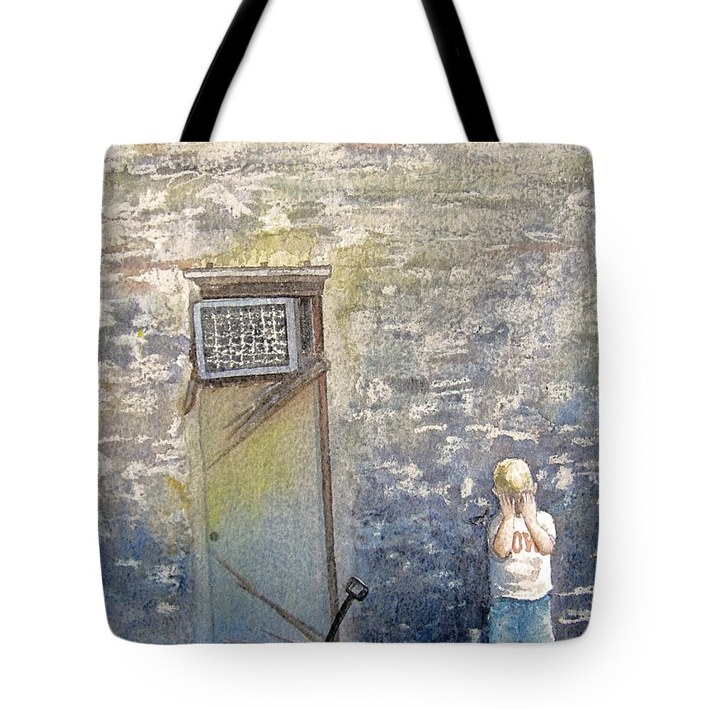 Child Tote Bag featuring the painting Alone by Gale Cochran-Smith