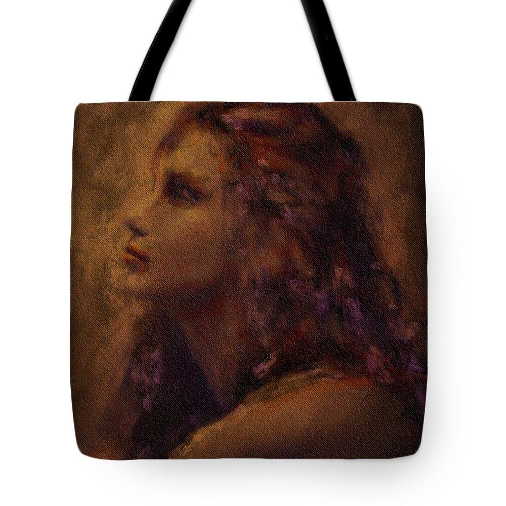 Uzart Tote Bag featuring the digital art Alone #0064 by Urszula Zogman