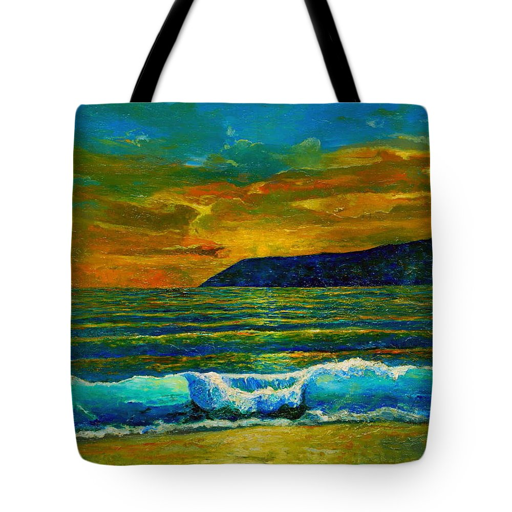 Seascape Tote Bag featuring the painting Along The African Coast by Michael Durst