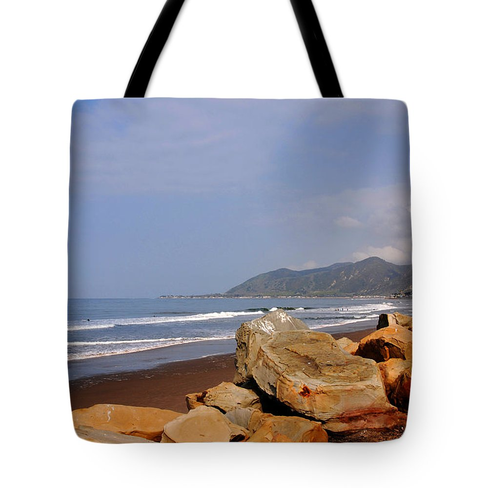 West Coast Tote Bag featuring the photograph Along The Californian Coast by Susanne Van Hulst