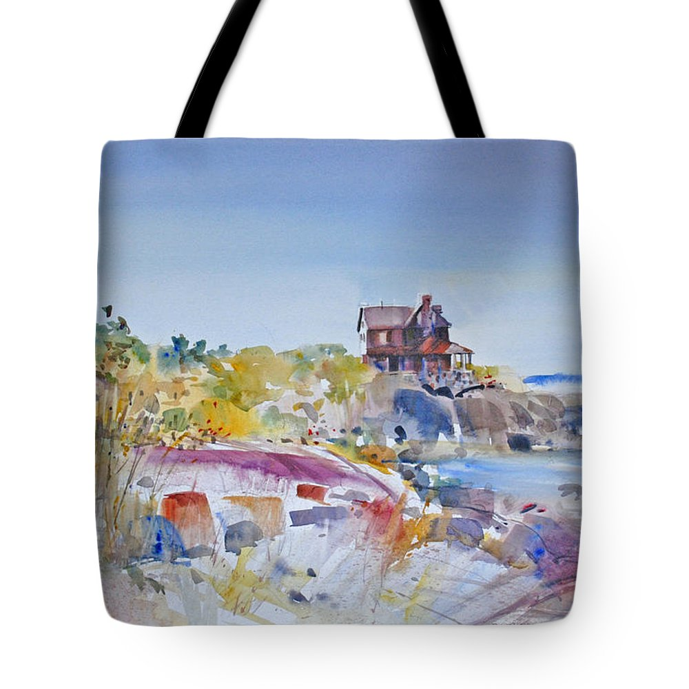 Coastal Tote Bag featuring the painting Along The Coast by P Anthony Visco