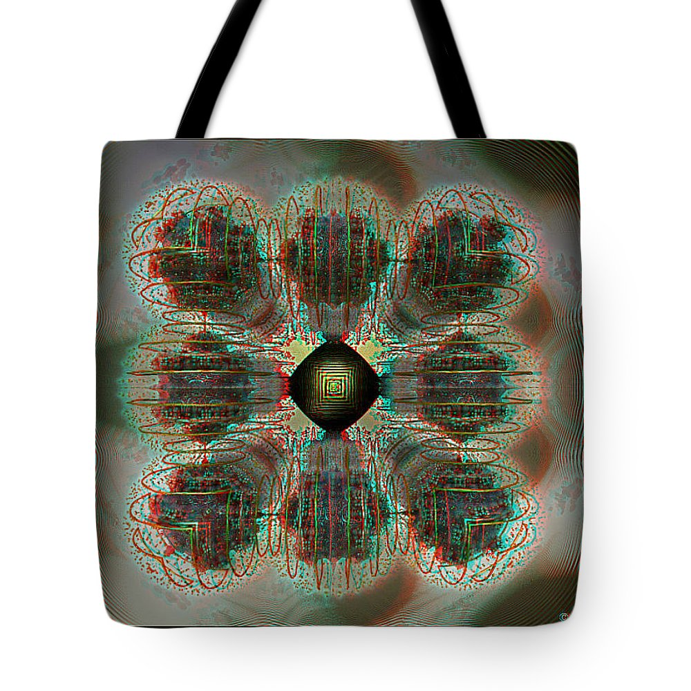 3d Tote Bag featuring the photograph Alpha Waves - View With Red-cyan 3d Glasses by Brian Wallace