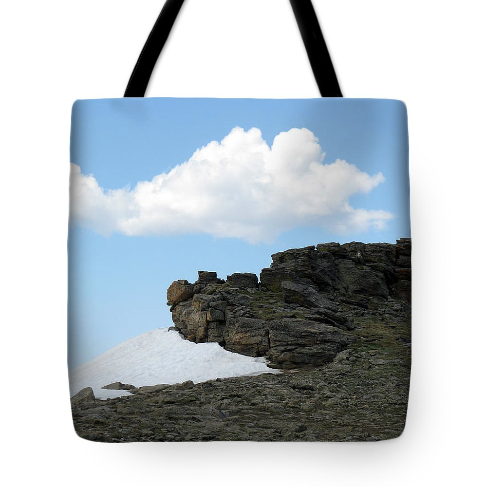 Rocky Mountains Tote Bag featuring the photograph Alpine Tundra - Up In The Clouds by Amanda Barcon