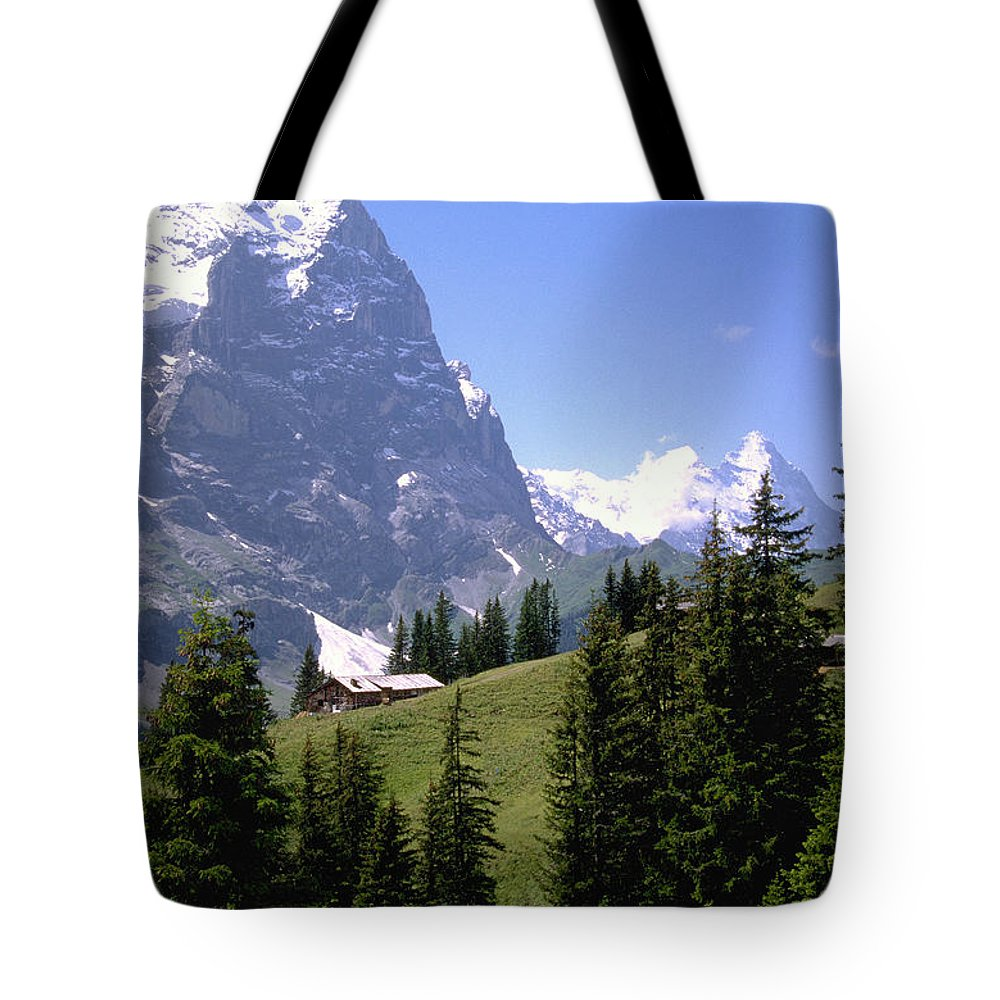 Alps Tote Bag featuring the photograph Alps by Flavia Westerwelle