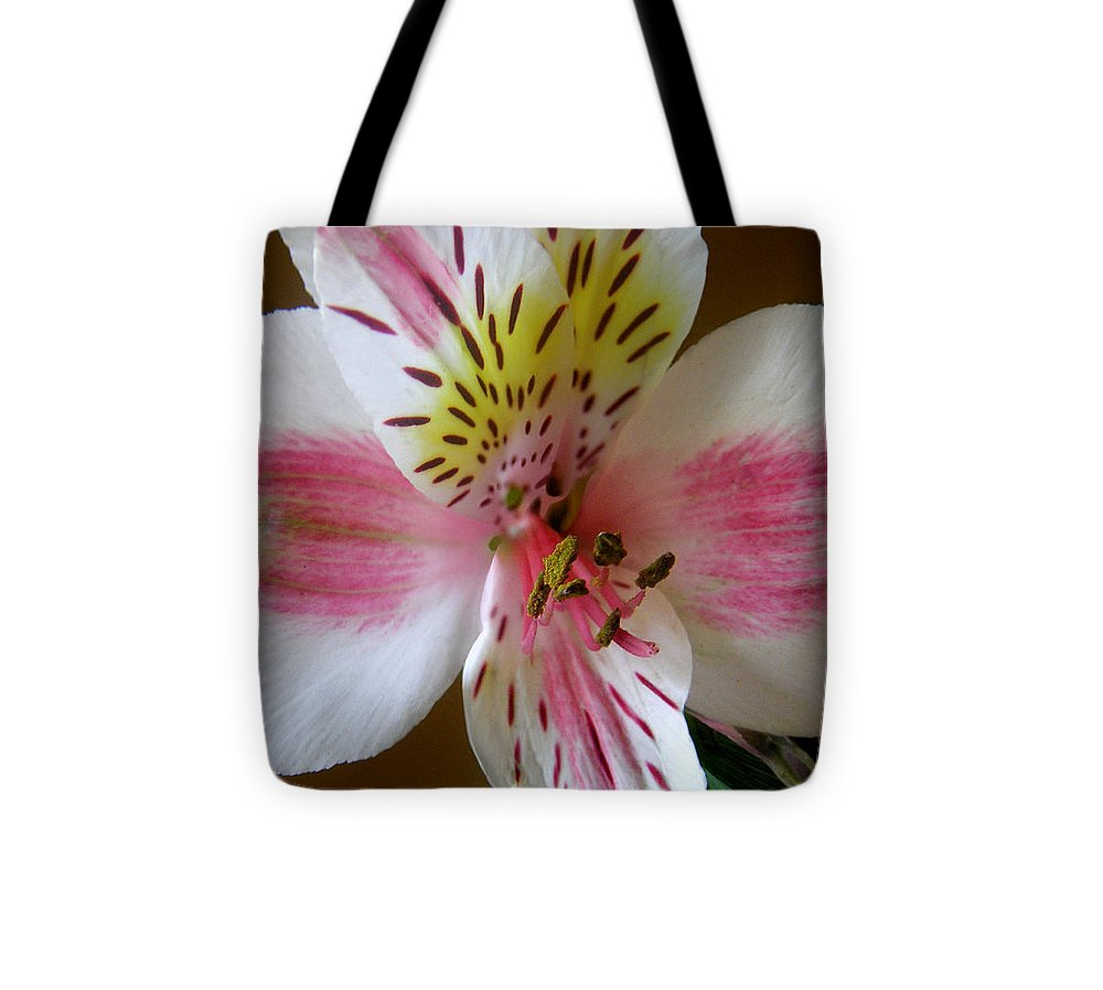 Nature Tote Bag featuring the photograph Alstroemerias - Close by Lucyna A M Green