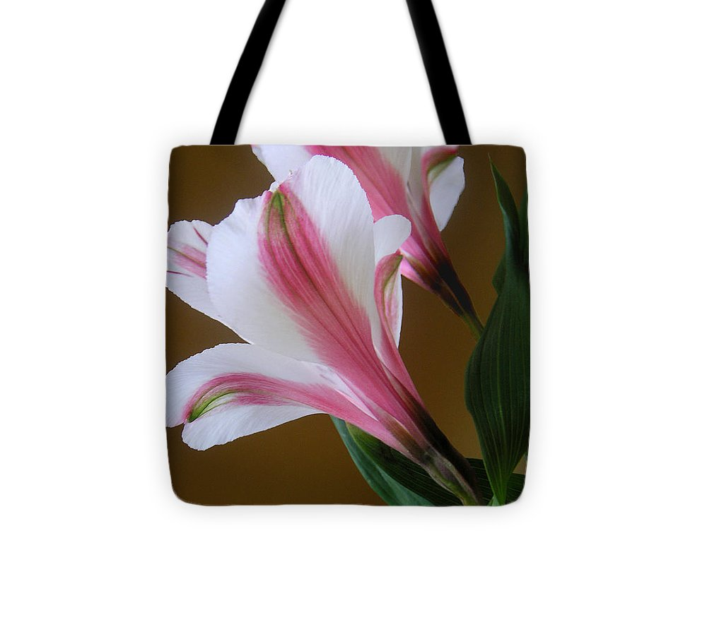 Nature Tote Bag featuring the photograph Alstroemerias - Together by Lucyna A M Green