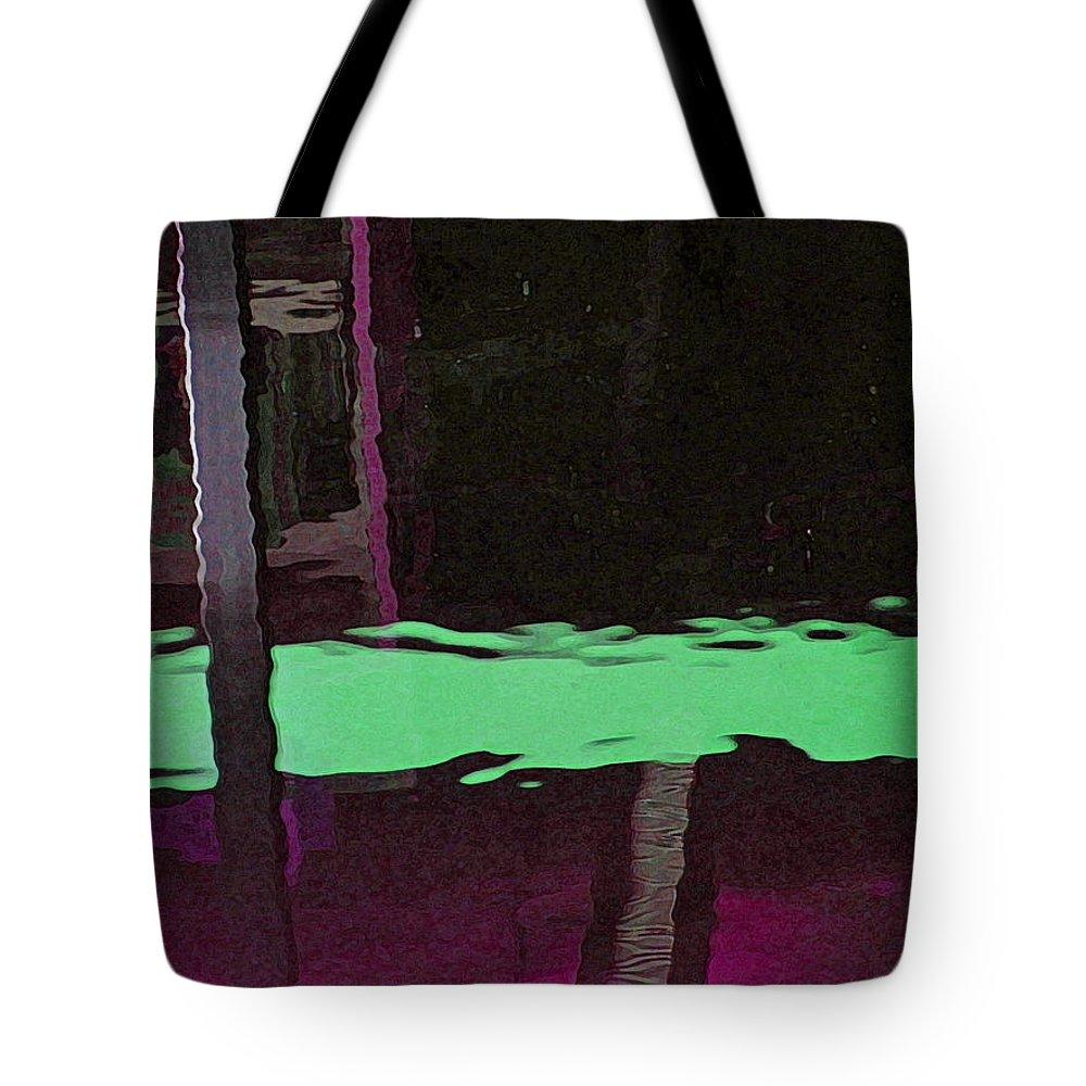 Abstract Tote Bag featuring the digital art Alternate Reality 14-2 by Lenore Senior
