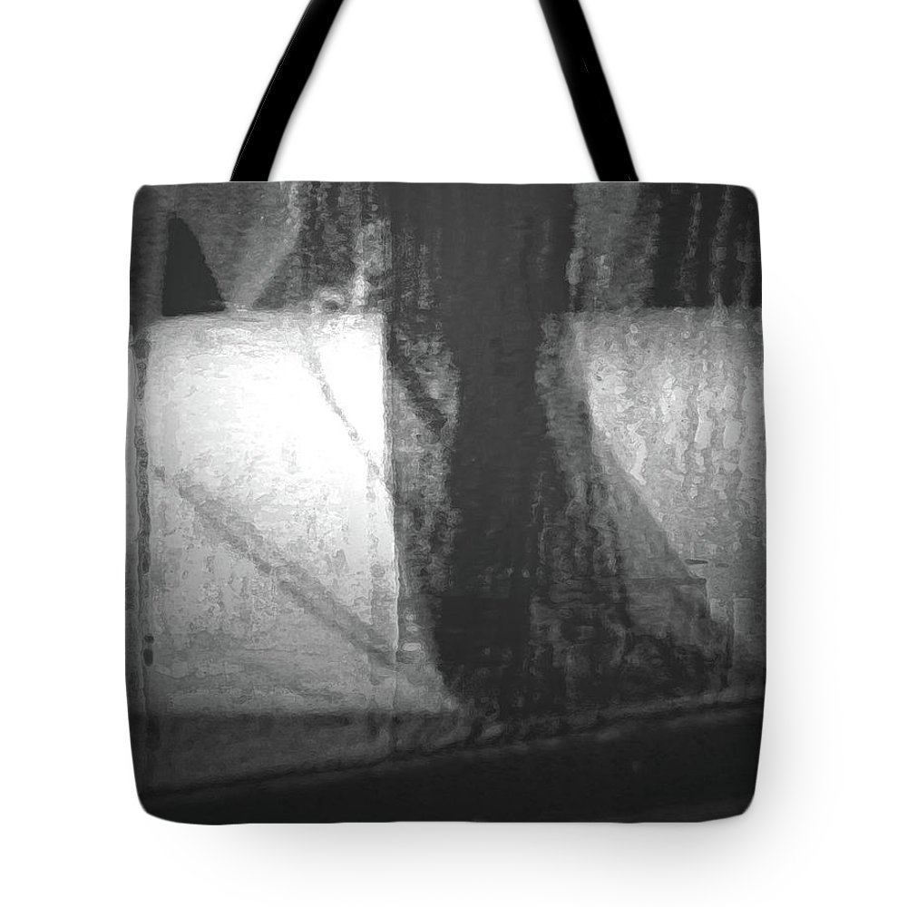 Abstract Tote Bag featuring the digital art Alternate Reality 4-2 by Lenore Senior