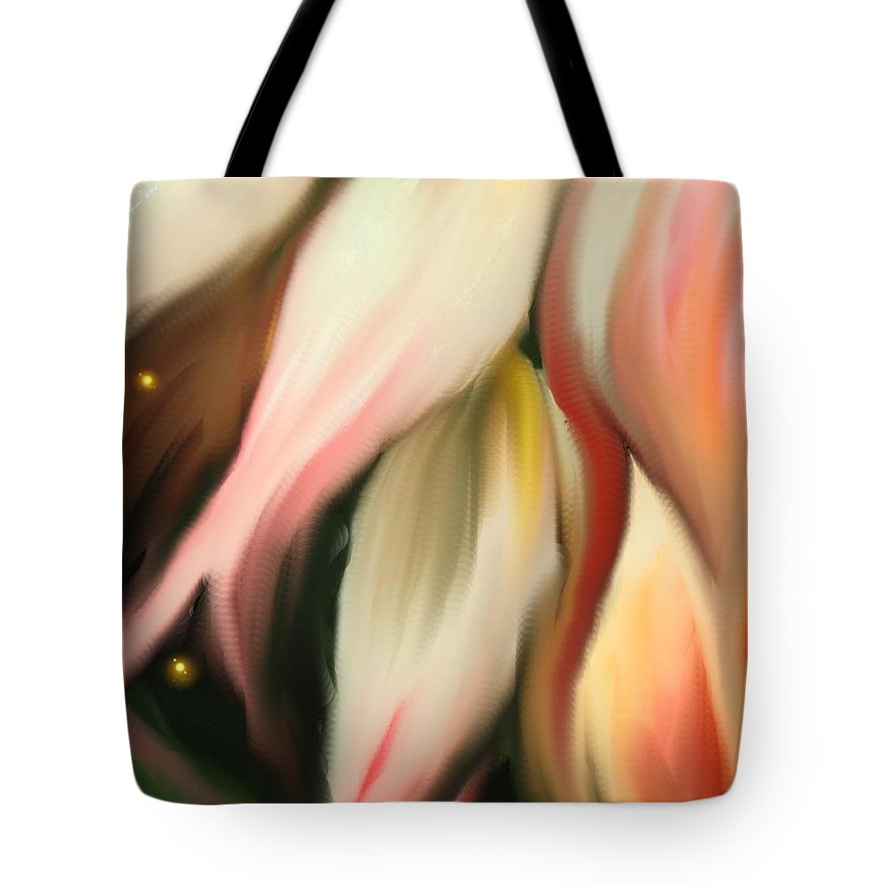 Abstract Tote Bag featuring the digital art Alternative Dimension by Ian MacDonald