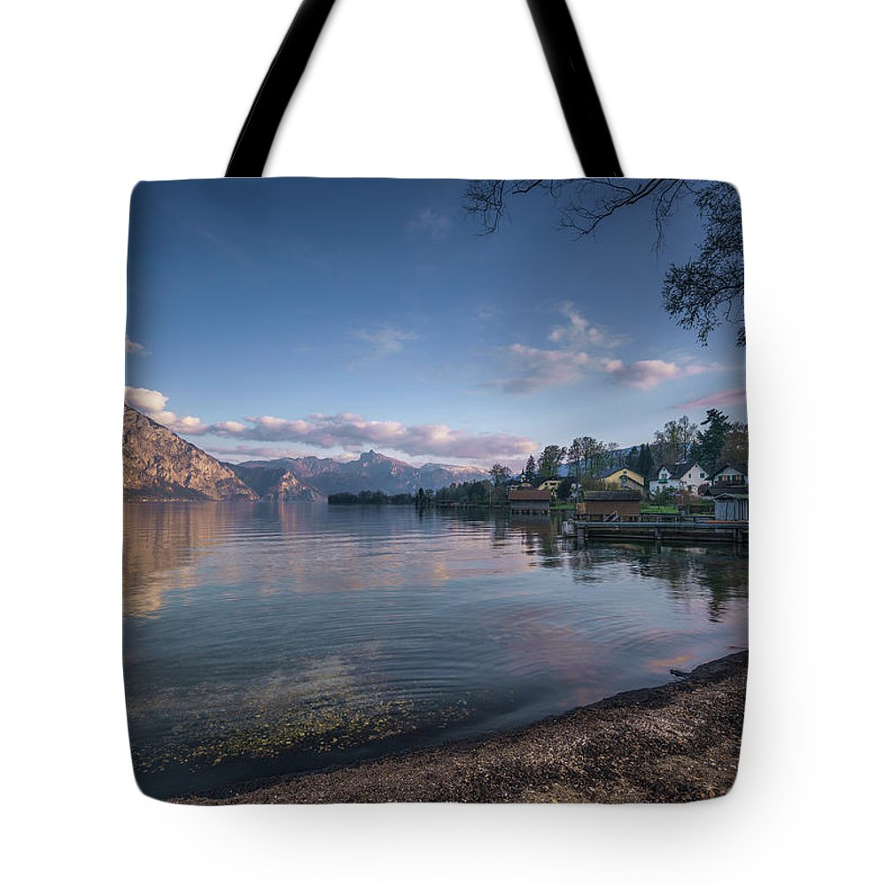 Altmuenster Tote Bag featuring the photograph Altmuenster by Ludwig Riml