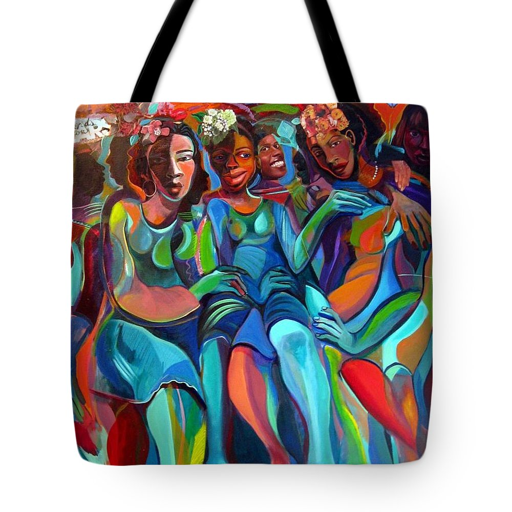 Women Tote Bag featuring the painting Always by Joyce Owens