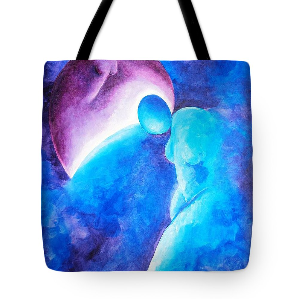 Blue Tote Bag featuring the painting Always... There To Go On by Jennifer Hannigan-Green
