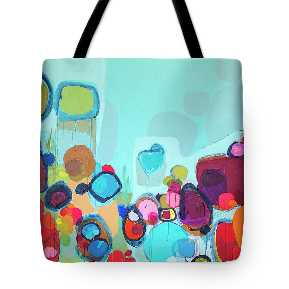 Abstract Tote Bag featuring the painting Always Will Be by Claire Desjardins