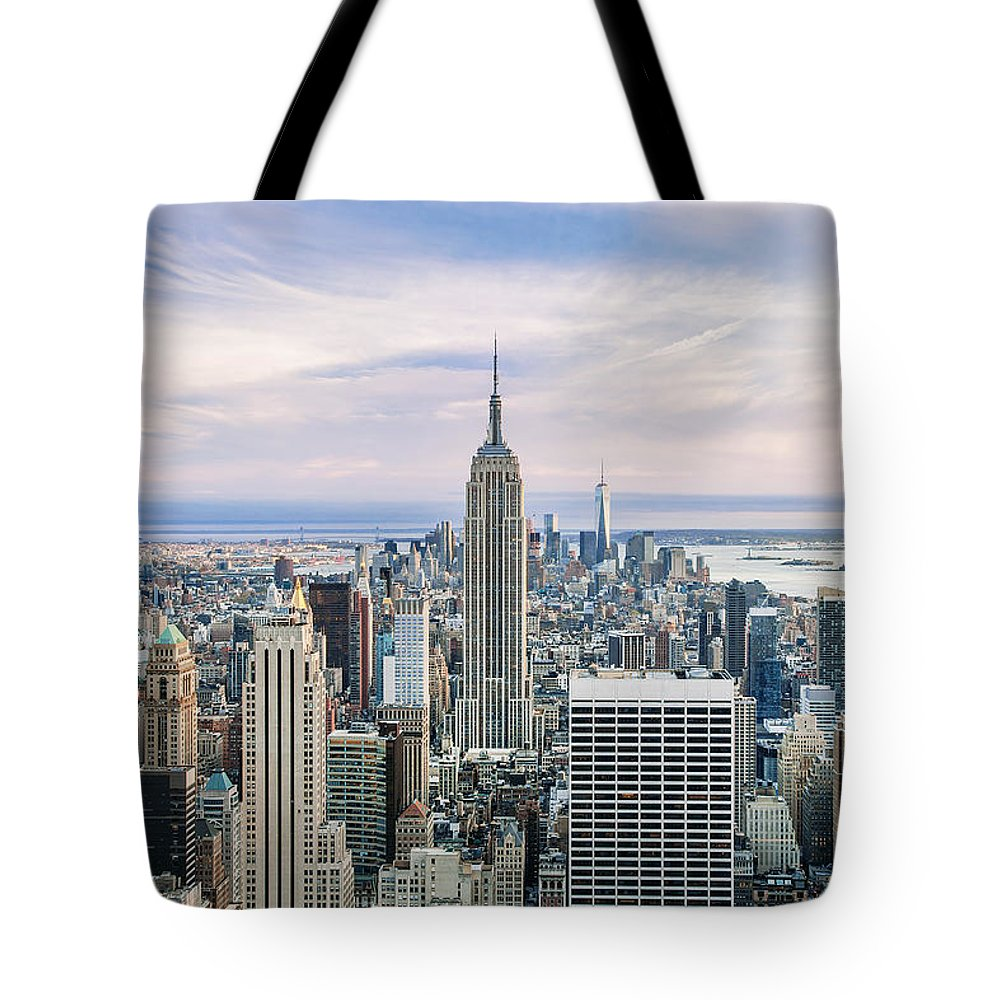 Empire State Building Tote Bag featuring the photograph Amazing Manhattan by Az Jackson