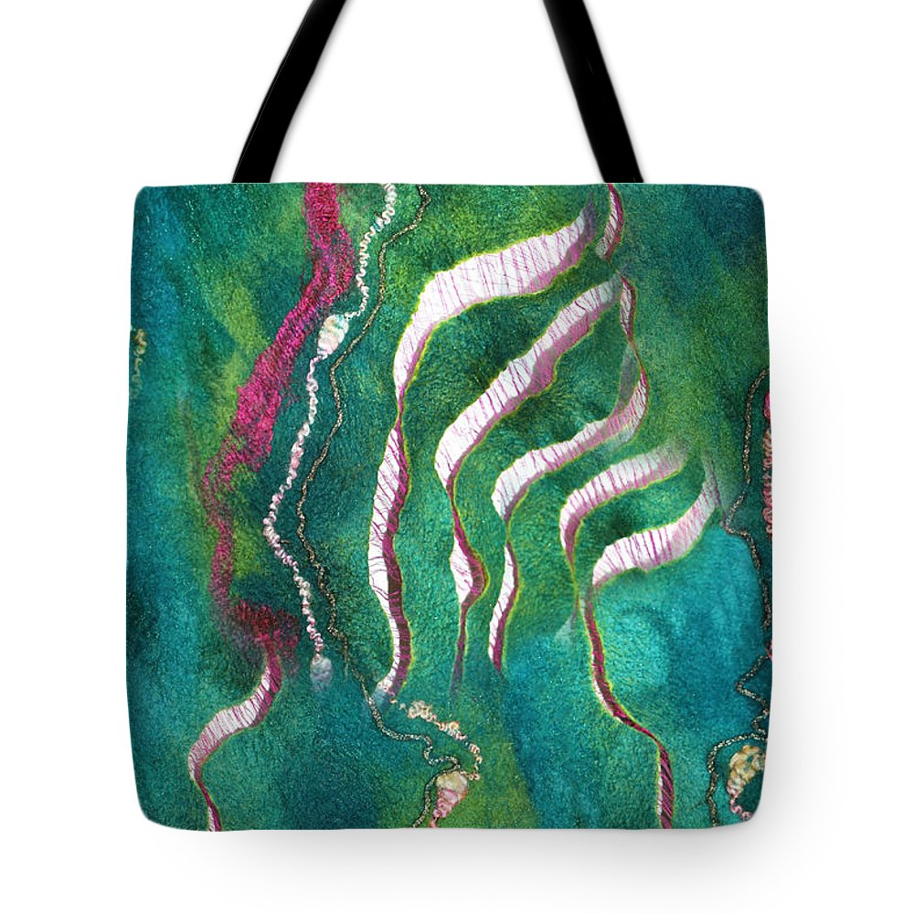 Russian Artists New Wave Tote Bag featuring the painting Amazon River by Marina Shkolnik