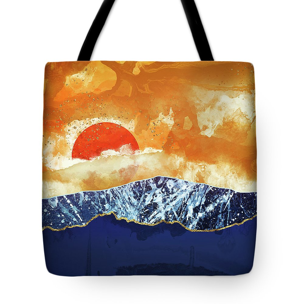 Amber Tote Bag featuring the digital art Amber Dusk by Katherine Smit