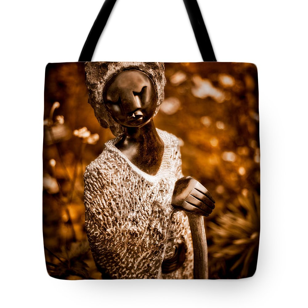 Ambuya (grandmother) Tote Bag featuring the photograph Ambuya Grandmother by Venetta Archer