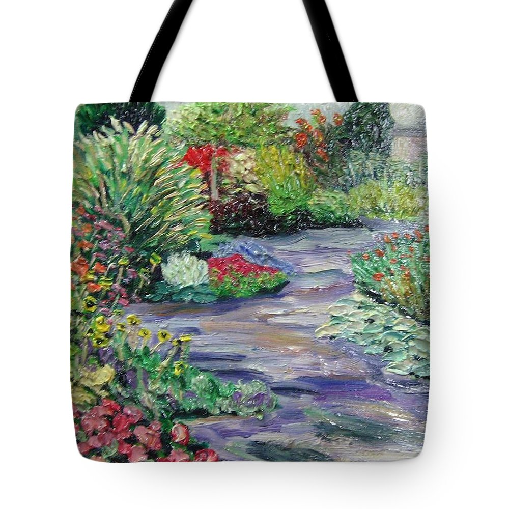Park Tote Bag featuring the painting Amelia Park Blossoms by Richard Nowak