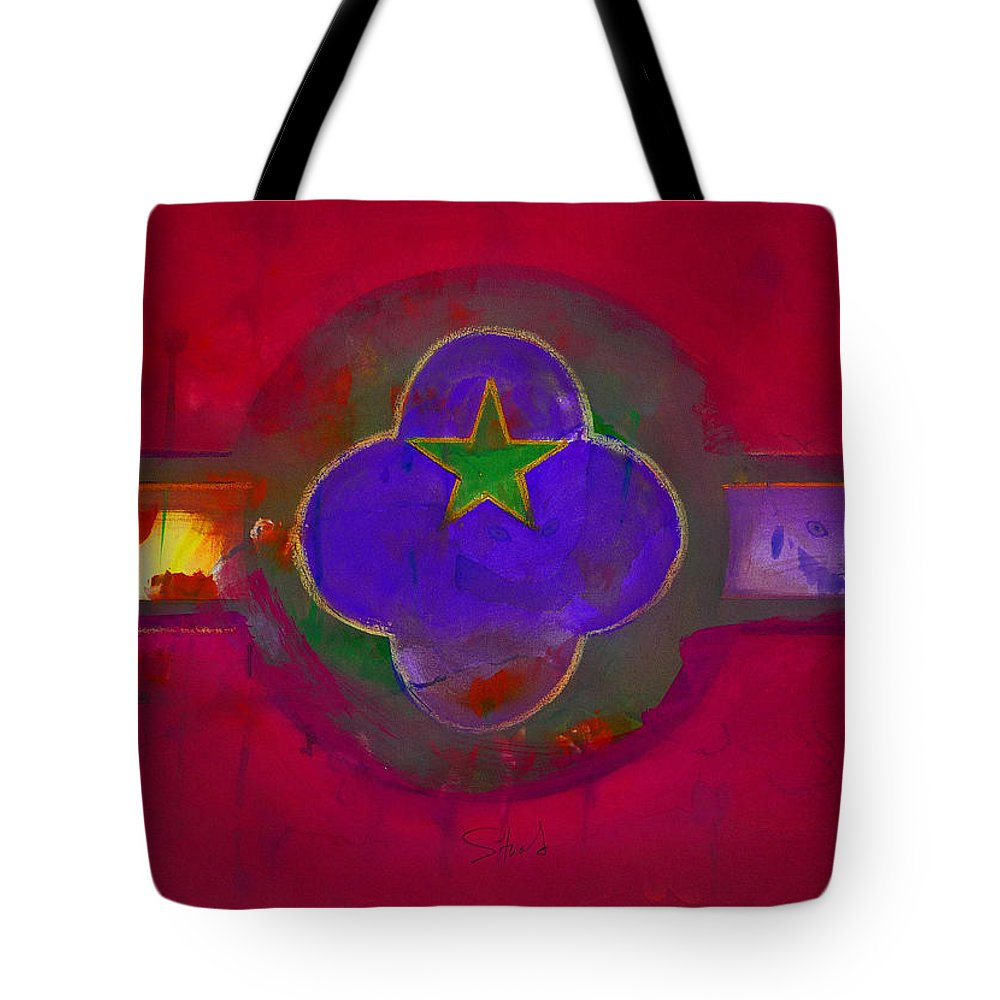 Star Tote Bag featuring the painting American Cats And Flowers by Charles Stuart