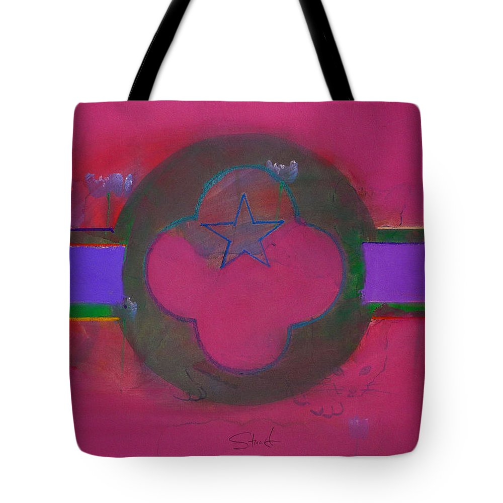 Star Tote Bag featuring the painting American Cats And Poppies by Charles Stuart