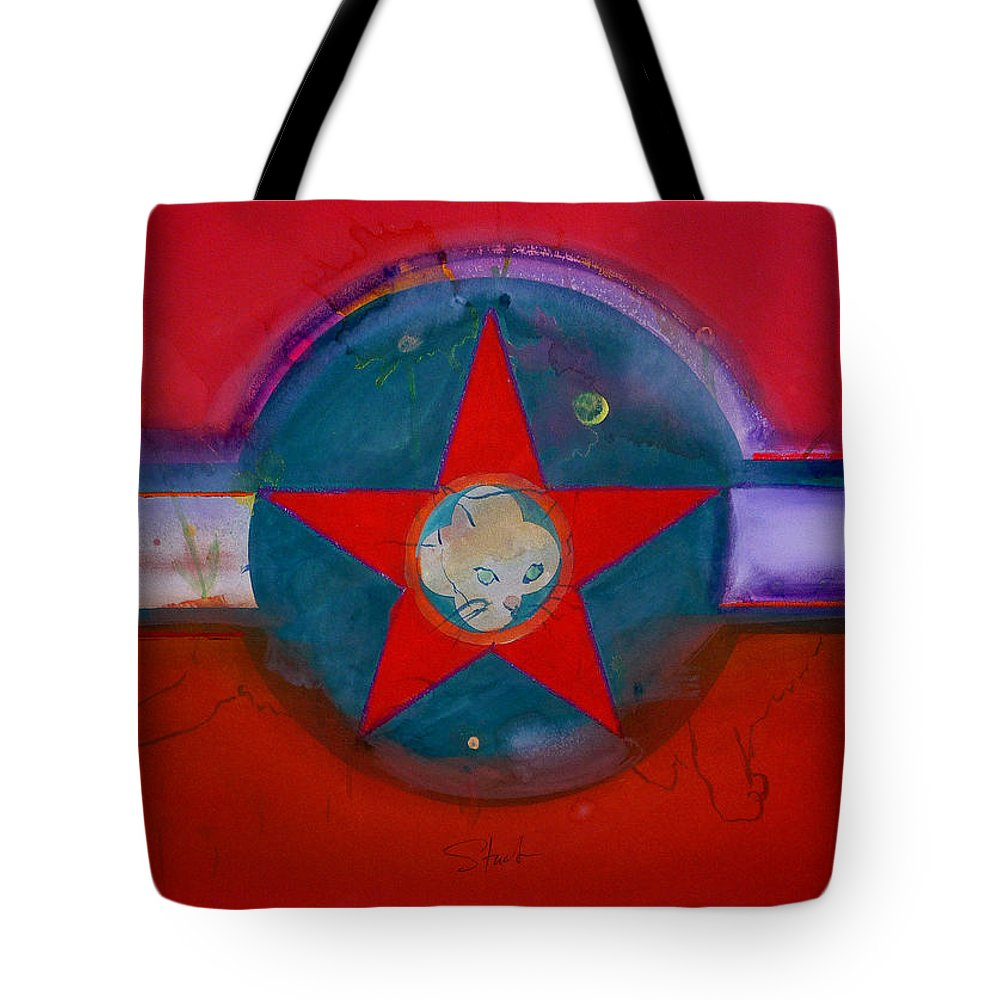Star Tote Bag featuring the painting American Chinoiserie Cat by Charles Stuart