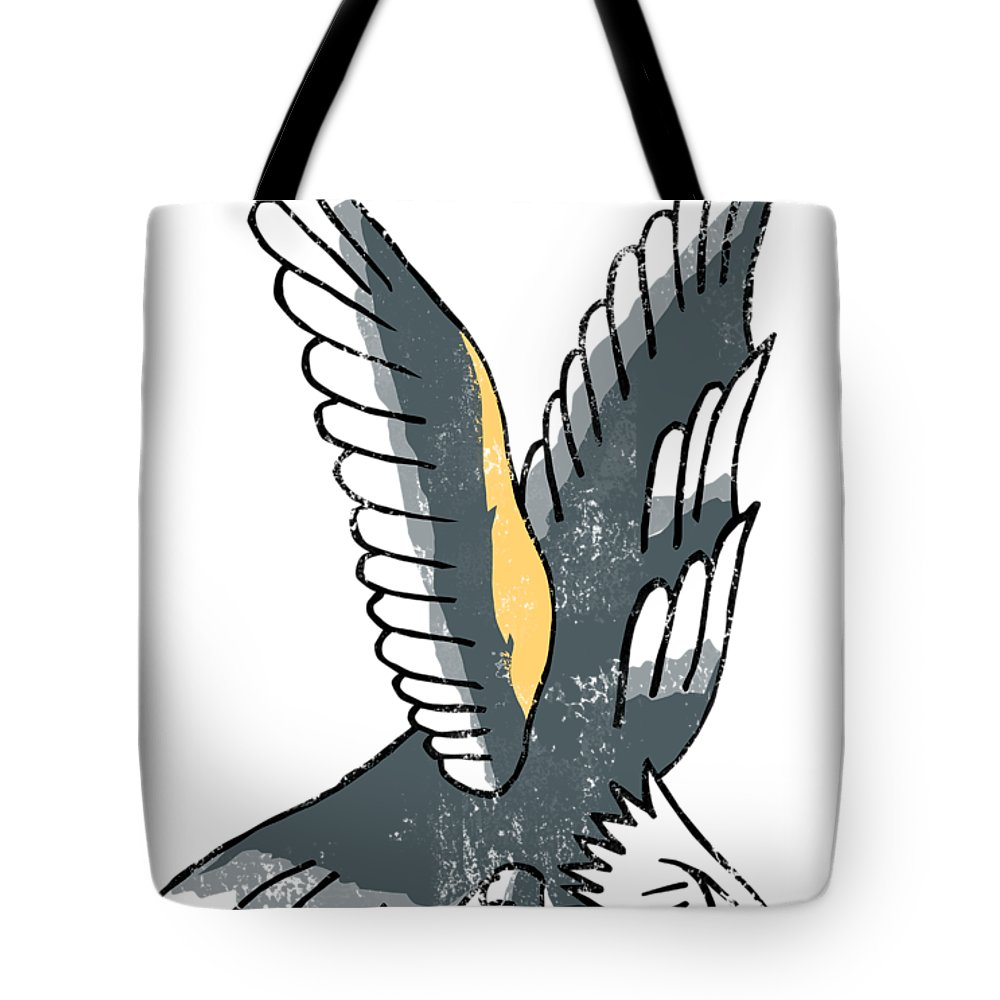 Americana Tote Bag featuring the digital art American Eagle Tattoo by Bob Newman