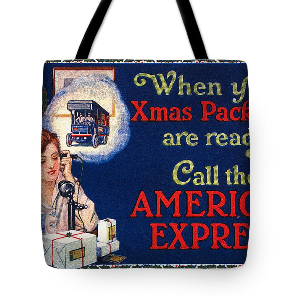 1915 Tote Bag featuring the photograph American Express Shipping by Granger